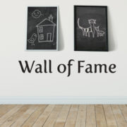 Wall of Fame Vinyl Wall Decal,