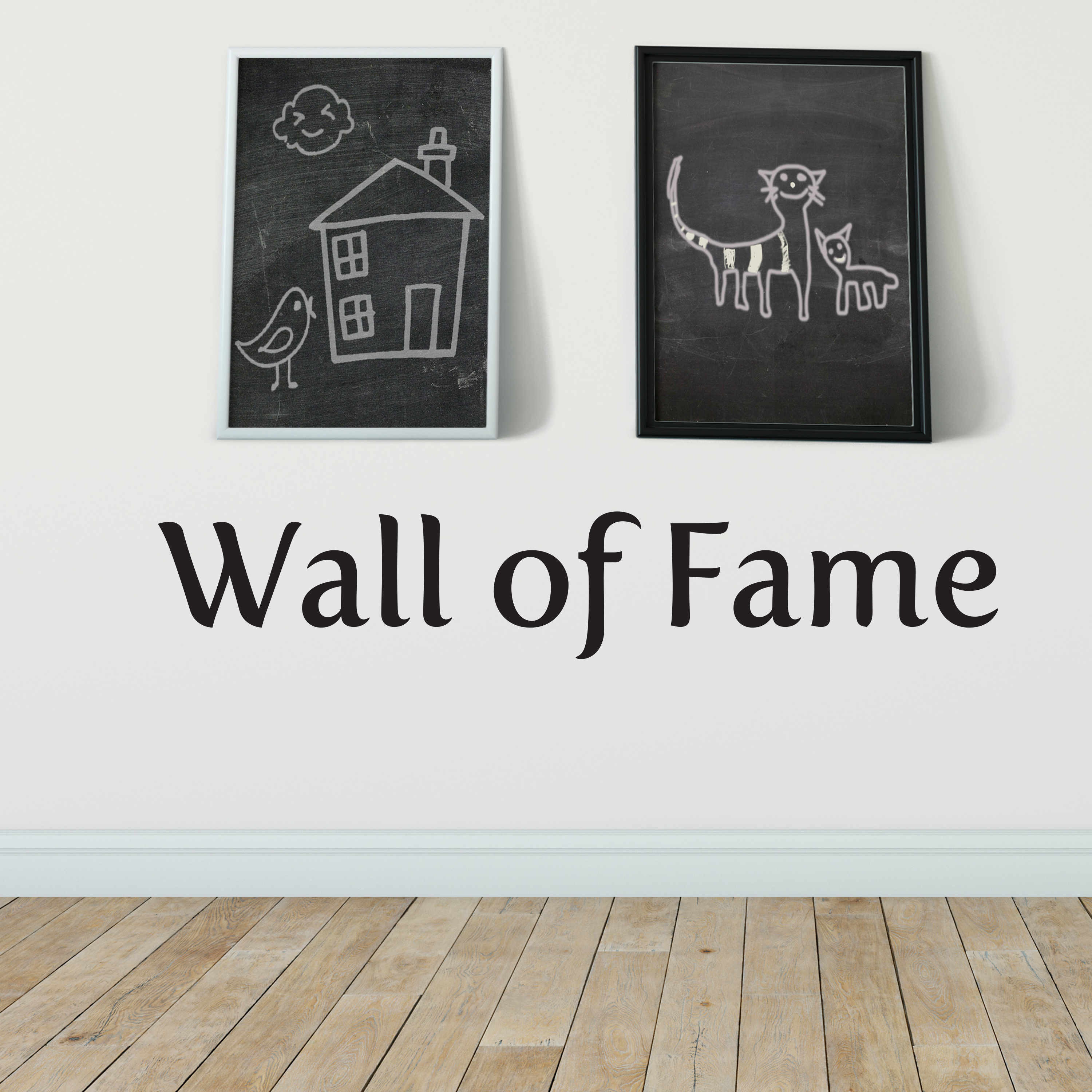 Wall Of Fame Vinyl Wall Decal Modern Home Decor