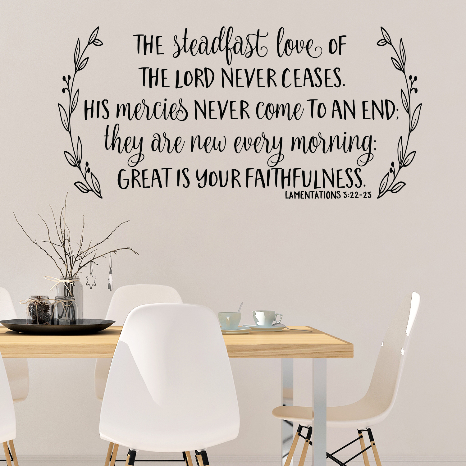 The Lord S Love Wall Decal: Lamentations 3v22-23 Vinyl Wall Decal 2 The Steadfast Love