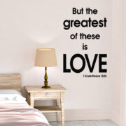 1 Corinthians 13v13 Vinyl Wall Decal 1