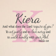 Micah 6v8 Vinyl Wall Decal 5