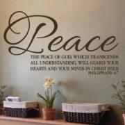 Philippians 4v7 Vinyl Wall Decal 1