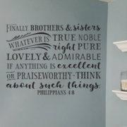 Philippians 4v8 Vinyl Wall Decal 4