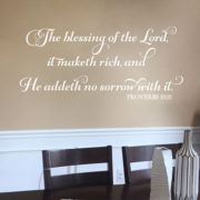 Proverbs 10v22 Vinyl Wall Decal 1