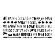 Micah 6v8 KJV Vinyl Wall Decal 4