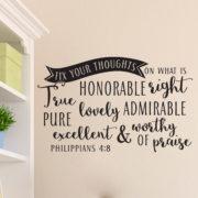 Philippians 4v8 Vinyl Wall Decal 3