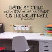 Proverbs 23v19 Vinyl Wall Decal