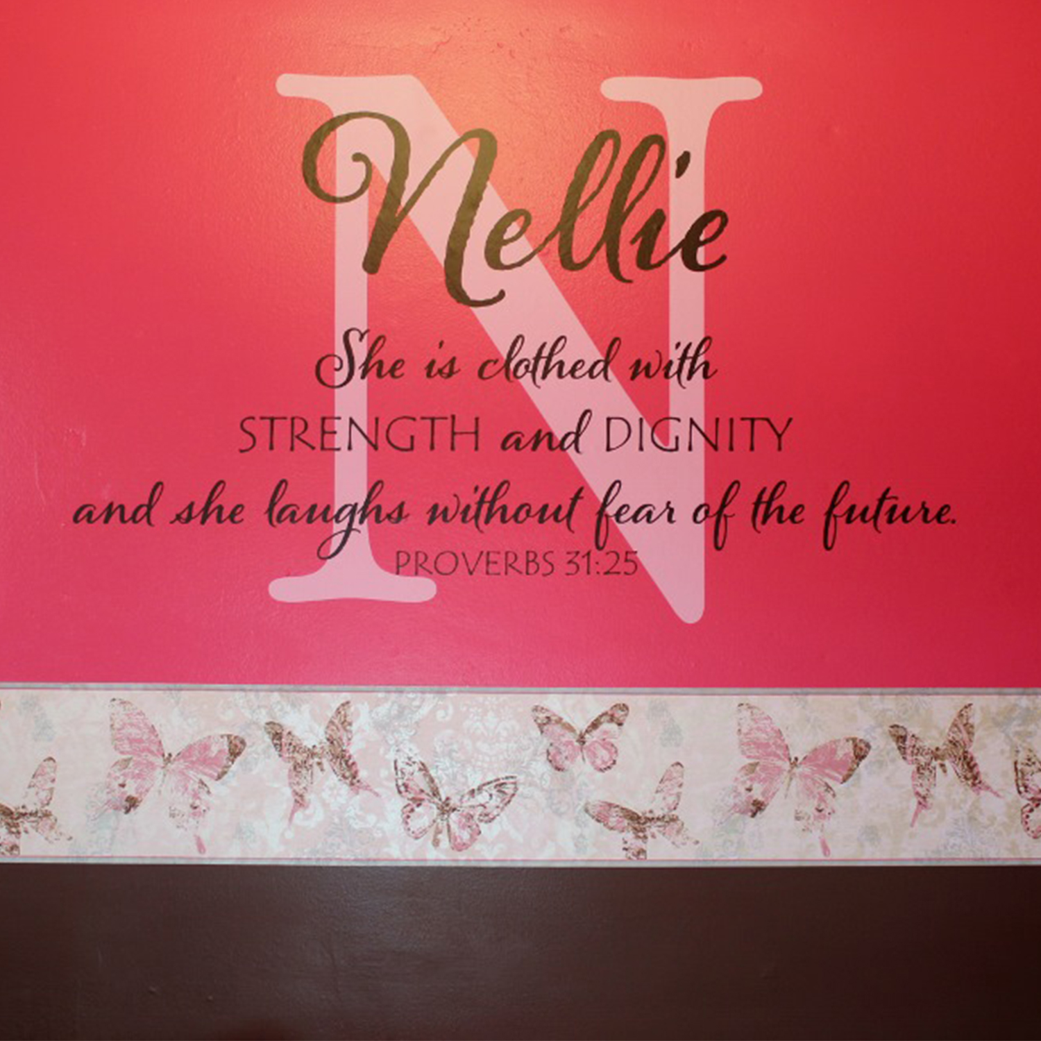 Dignity Wall: Proverbs 31v25 Vinyl Wall Decal 4 She Is Clothed With
