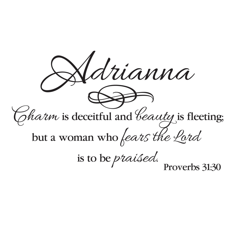 charm is deceitful
