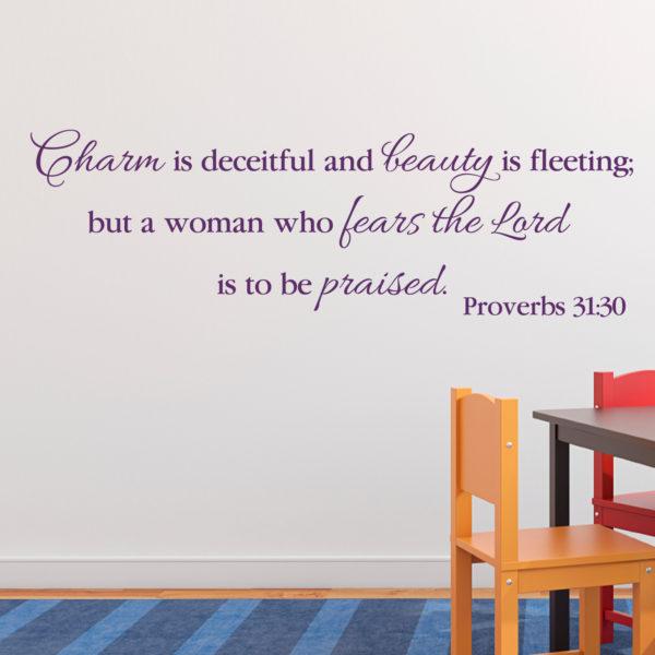 Proverbs 31v30 Vinyl Wall Decal 8