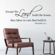 Psalm 127v1 Vinyl Wall Decal 1