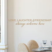 Love Laughter and Friendship Vinyl Wall Decal