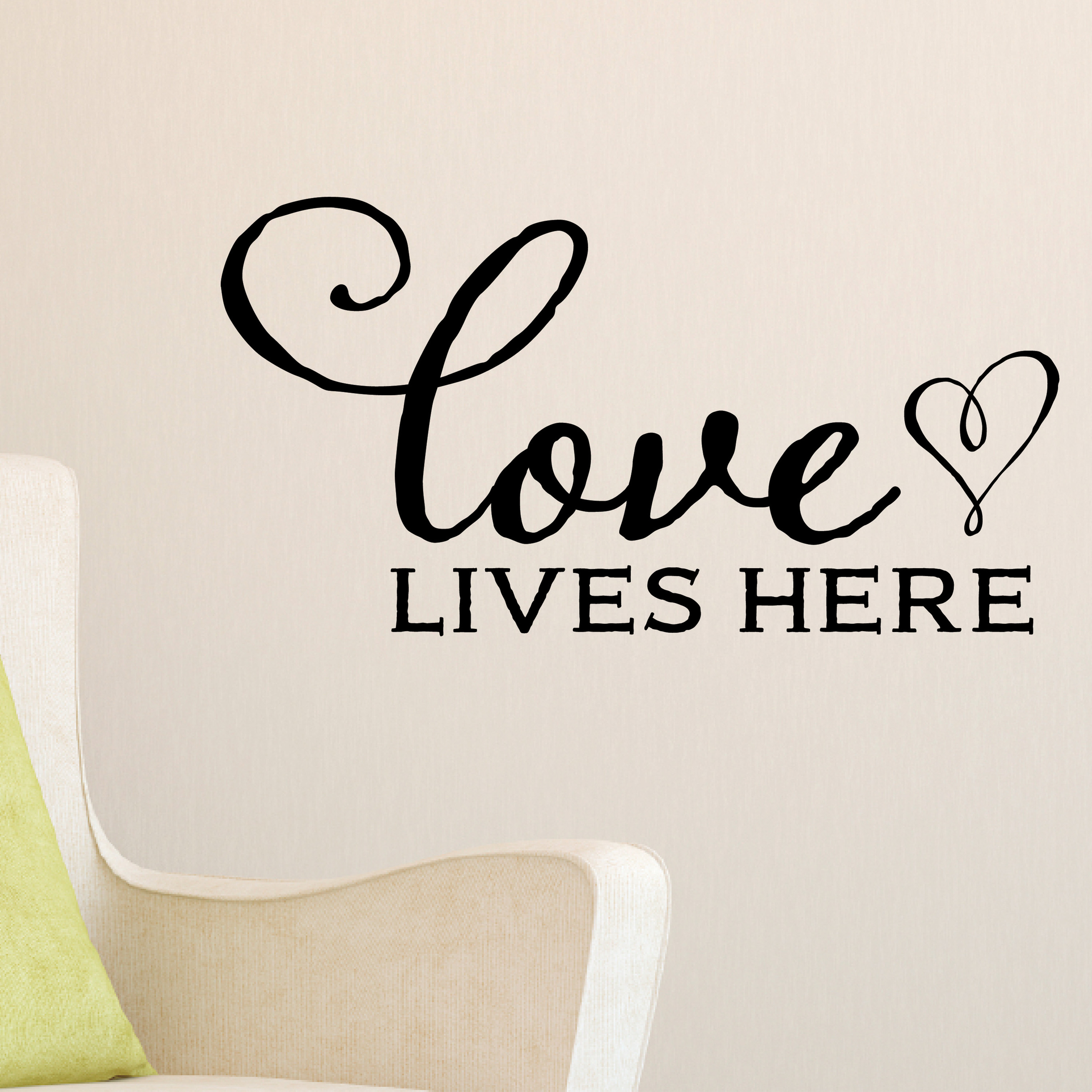 Love Lives Here Vinyl Wall Decal By Wild Eyes Signs Family Picture Wall Decal Living Room Vinyl Sticker Kitchen Blessing Sign Master Bedroom