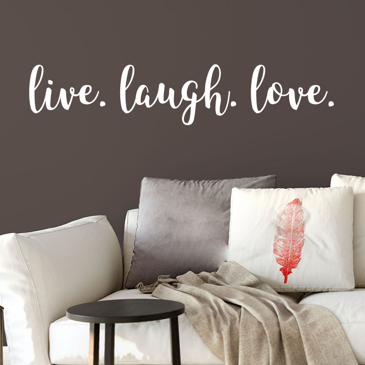 Live Laugh Love Vinyl Wall Decal Modern Home Decor Teen Girl Decal