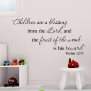 Psalm 127v3 Vinyl Wall Decal 1