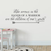 Psalm 127v4 Vinyl Wall Decal 4