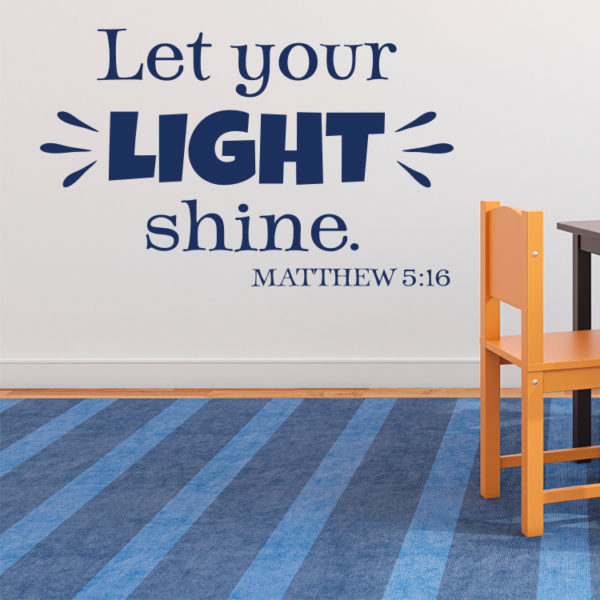 Matthew 5v16 Vinyl Wall Decal 3
