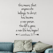 1 Corinthians 5v17 Vinyl Wall Decal 1