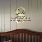 Psalm 139v14 Vinyl Wall Decal 15