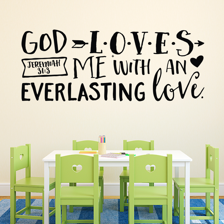 Jeremiah 31v3 Vinyl Wall Decal 2
