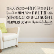 Colossians 2v7 Vinyl Wall Decal