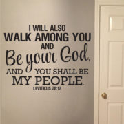 Leviticus 26v12 Vinyl Wall Decal
