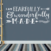 Psalm 139v14 Vinyl Wall Decal 27