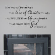 Ephesians 3v19 Vinyl Wall Decal 2
