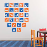 Alphabet Letter Blocks Vinyl Wall Decal