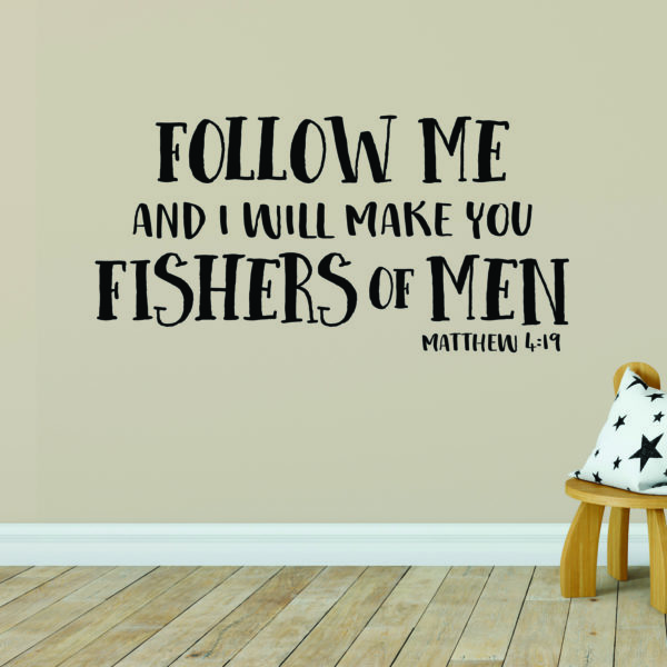 Matthew 4v19 Vinyl Wall Decal