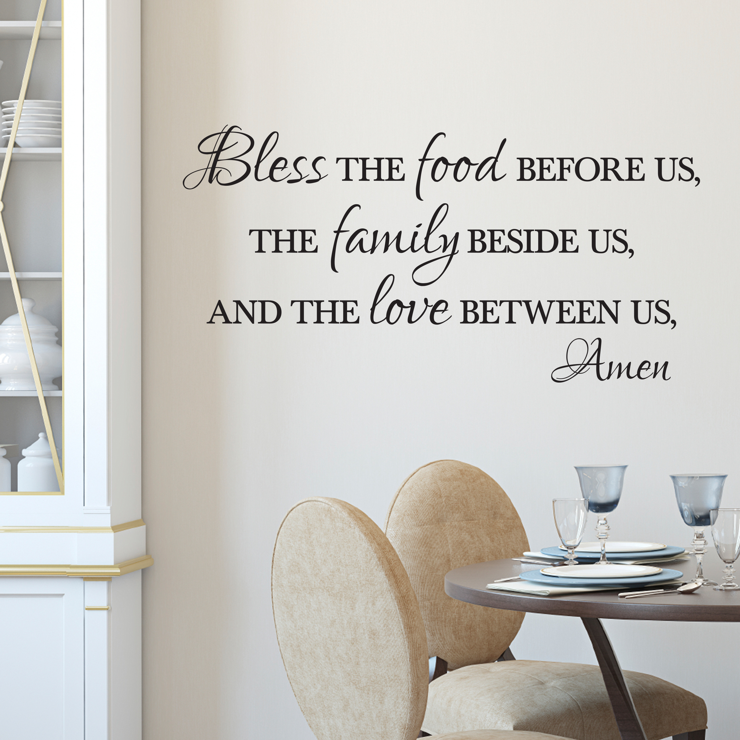 Bless The Food Before Us Vinyl Wall Decal Bless The Food