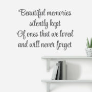 Beautiful Memories Silently Kept Vinyl Wall Decal