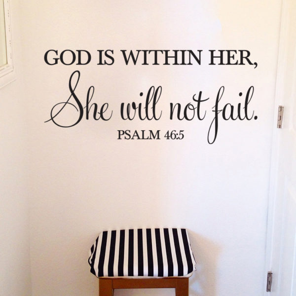 Psalm 46v5 Vinyl Wall Decal 2