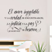 Psalm 85v10 Spanish Vinyl Wall Decal