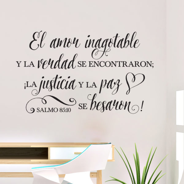 Psalm 85v10 Spanish Vinyl Wall Decal