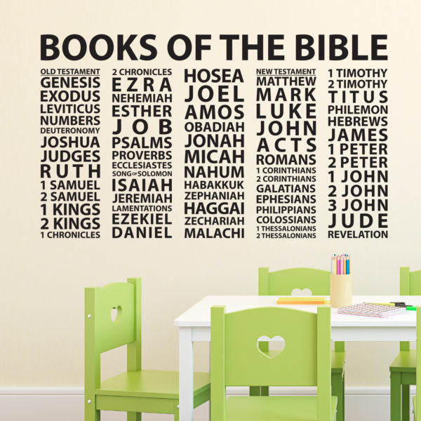 Books of the Bible Vinyl Wall Decal