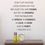 1 Timothy 4v12 Vinyl Wall Decal 17