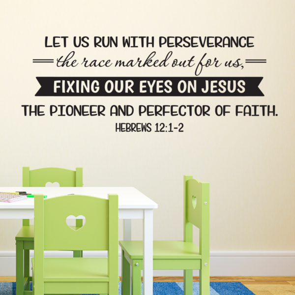 Hebrews 12v1 Vinyl Wall Decal 3