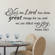 Psalm 126v3 Vinyl Wall Decal 2
