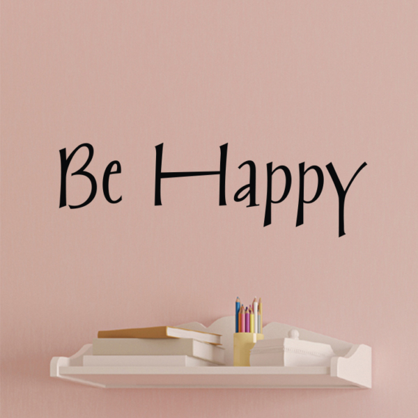 Be Happy Vinyl Wall Decal