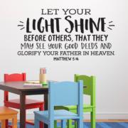 Matthew 5V16 Vinyl Wall Decal 4