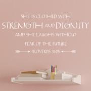 Proverbs 31v25 Vinyl Wall Decal 7