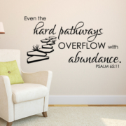 Psalm 65v11 Vinyl Wall Decal