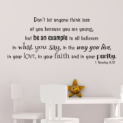 1 Timothy 4v12 Vinyl Wall Decal 14