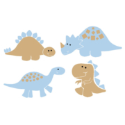Dinosaurs Child's Room Set of 4 Vinyl Wall Decal