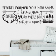 Jeremiah 1v5 Vinyl Wall Decal 26