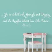 Proverbs 31v25 Vinyl Wall Decal 8